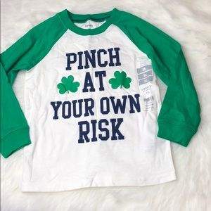 "3T Oshkosh toddler ""pinch at your own risk"" shirt"